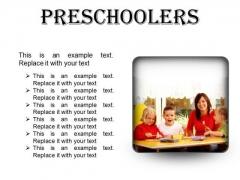 Preschoolers Children PowerPoint Presentation Slides S