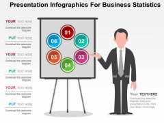 Presentation Infographics For Business Statistics PowerPoint Templates