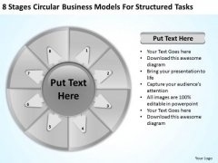 Presentation Models For Structured Tasks Service Business Plan PowerPoint Templates