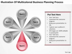 Presentation Planning Process 6 Stages Writing Business Examples PowerPoint Templates