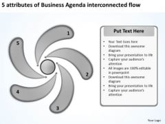Presentations Agenda Interconnected Flow Business Plans How To Write PowerPoint Templates