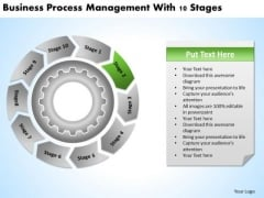 Presentations Process Management With 10 Stages Business Plan PowerPoint Slides