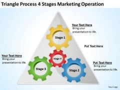 Process 4 Stages Marketing Operation Ppt Business Plan Template PowerPoint Templates