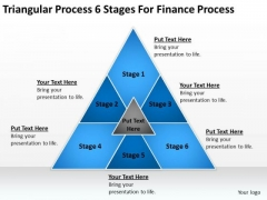 Process 6 Stages For Finance Ppt Business Plan PowerPoint Slides