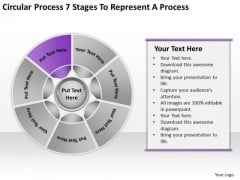 Process 7 Stages To Represent Business Plan Template PowerPoint Slides