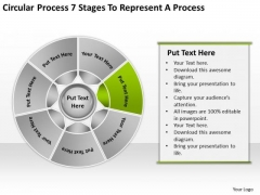 Process 7 Stages To Represent Sample Business Plan Template PowerPoint Templates