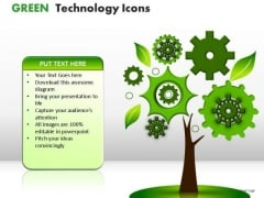 Process And Flows Green Technology Icons PowerPoint Slides And Ppt Diagram Templates