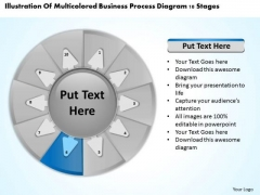 Process Diagram 10 Stages Business Plan For PowerPoint Templates