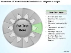 Process Diagram 10 Stages Business Plan Template For PowerPoint Slides