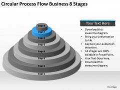 Process Flow Business 8 Stages Ppt Plan Professional Services PowerPoint Slides