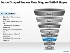 Process Flow Diagram With 8 Stages Ppt Photography Business Plan Template PowerPoint Slides