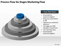 Process Flow Six Stages Marketing Ppt Business Plan Format Template PowerPoint Slides