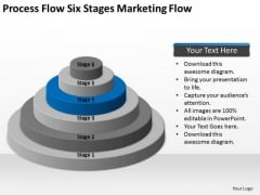 Process Flow Six Stages Marketing Ppt Sample Business Plan For Restaurant PowerPoint Slides