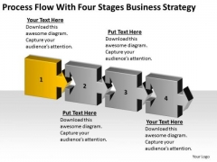 Process Flow With Four Stages Business Concepts Retail Plan PowerPoint Slides