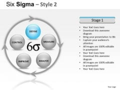 Process Flowchart Diagram Six Sigma Ppt Slides