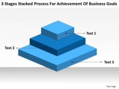 Process For Achievement Of Business Goals Constructing Plan PowerPoint Slides