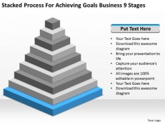 Process For Achieving Goals Business 9 Stages Ppt Examples Of Plan PowerPoint Slides