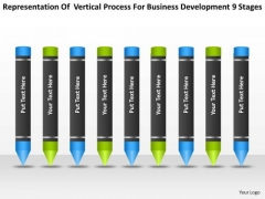 Process For Business Development 9 Stages Plan PowerPoint Slides