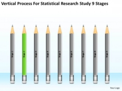 Process For Statisctical Research Study 9 Stages Ppt Business Plan PowerPoint Slides