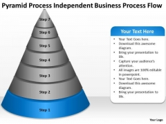 Process Independent Business Flow Ppt Plan For PowerPoint Slides