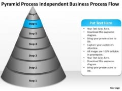 Process Independent Business Flow Ppt Plan PowerPoint Templates