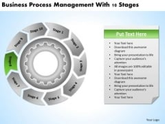 Process Management With 10 Stages Putting Business Plan Together PowerPoint Slides