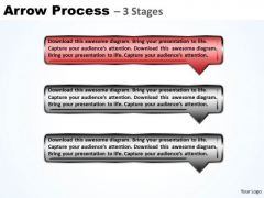Process PowerPoint Template Arrow Using 3 Rectangles Business Plan Image