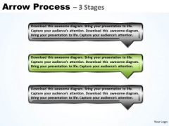 Process PowerPoint Template Arrow Using 3 Rectangles Business Plan Ppt Image