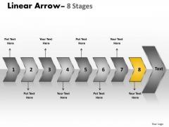 Process PowerPoint Template Connected Description Of 8 Shapes Arrows Graphic