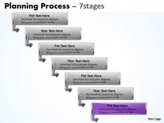 Process Ppt Background Downward Of 7 Stages Business Strategy PowerPoint 8 Graphic