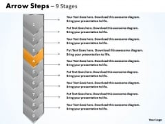 Process Ppt Green And Orange Arrow 9 Power Point Stage Business Plan PowerPoint 5 Graphic