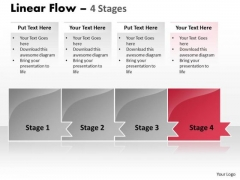 Process Ppt Template Horizontal Model Of 4 Concepts Time Management PowerPoint 5 Graphic