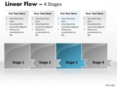 Process Ppt Template Horizontal Model Of 4 Concepts Time Management PowerPoint Graphic