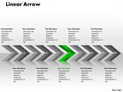 Process Ppt Template Linear Arrows 10 Stages Operations Management PowerPoint 7 Design