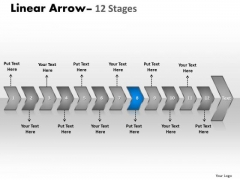 Process Ppt Theme Connected Representation Of 12 Circular Arrows PowerPoint 2007 9 Design