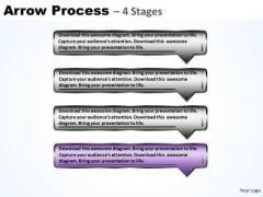 Process Ppt Theme Reasonable Model Using 4 Rectangular Arrows 5 Design