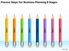 Process Steps For Business Planning 8 Stages Ppt Franchise PowerPoint Slides