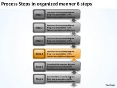 Process Steps In Organized Manner 6 Business Plan Review PowerPoint Templates