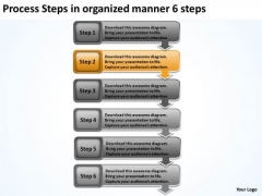 Process Steps In Organized Manner 6 Free Business Plans Examples PowerPoint Slides