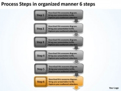 Process Steps In Organized Manner 6 Ppt Template For Business Plan PowerPoint Slides