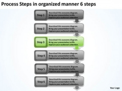 Process Steps In Organized Manner 6 Sample Business Plan Pdf PowerPoint Templates