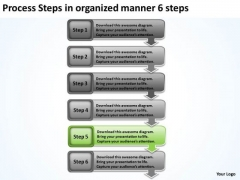 Process Steps In Organized Manner 6 Sample Business Proposal Outline PowerPoint Slides