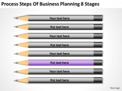 Process Steps Of Business Planning 8 Stages For PowerPoint Slides