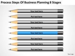 Process Steps Of Business Planning 8 Stages Plans PowerPoint Slides