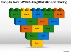 Process With Building Blocks Business Planning Ppt Strategic Plans PowerPoint Templates