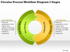 Process Workflow Diagram 2 Stages Sample Business Plan Template PowerPoint Templates