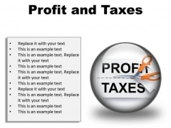 Profit And Taxes Business PowerPoint Presentation Slides C