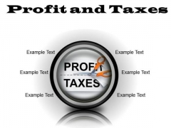 Profit And Taxes Business PowerPoint Presentation Slides Cc