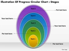 Progress Circular Chart 5 Stages Start Up Business Plan Template PowerPoint Templates