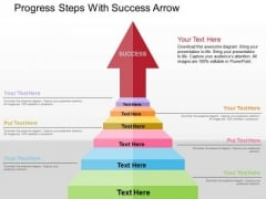 Progress Steps With Success Arrow PowerPoint Templates